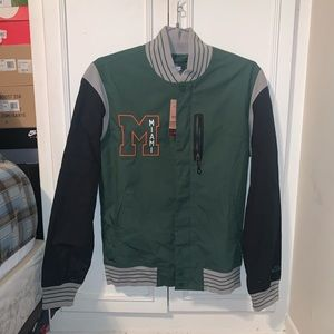 BNWT Miami Hurricane Nike Varsity Jacket!